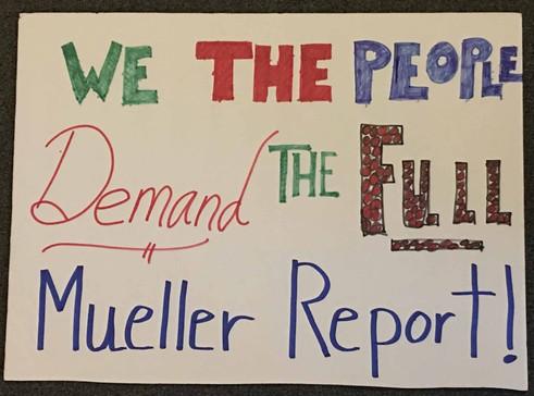 Release the Mueller Report  4/4/2019