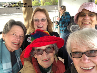 Meeting at BART for Women's March 2019