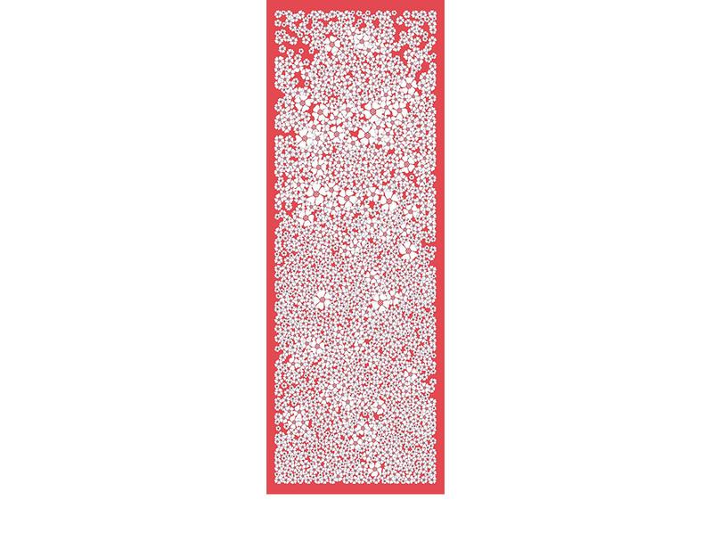 CHAMP DE FLEURS-rouge-90x250