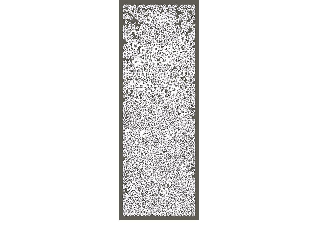CHAMP DE FLEURS-gris-90x250