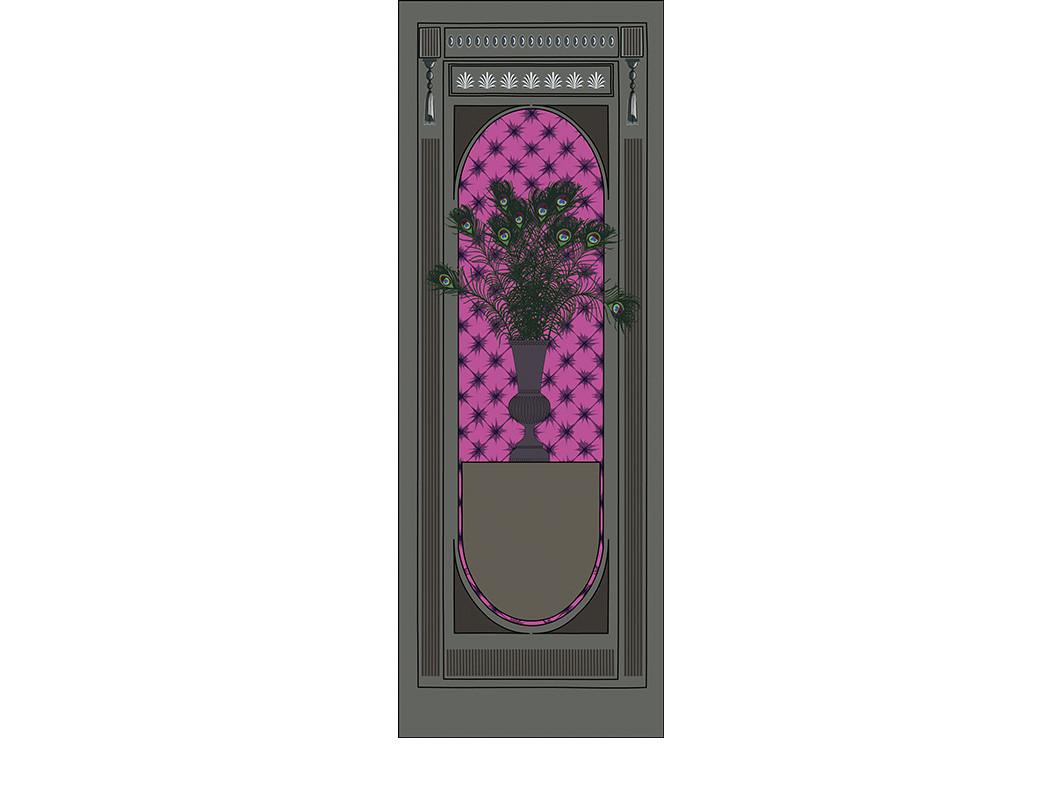 GRAND SIECLE paon capiton pompadour-90x2
