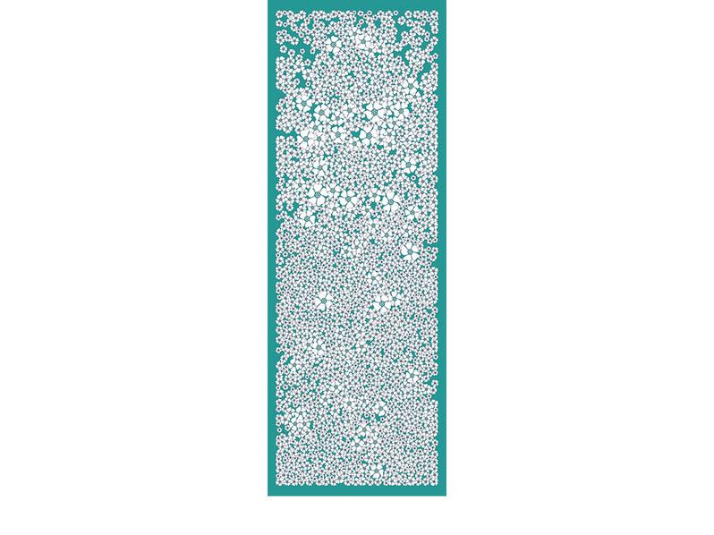 CHAMP DE FLEURS-turquoise-90x250