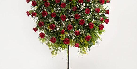 Kırmızı Güller Ferforje