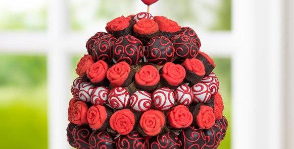 Mesajlı Kırmızı Yenilebilir Çiçek Buketi