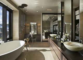 Opciones modernas para decoración de baños.