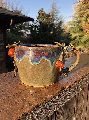 Large Drippy Pumpkin Mug