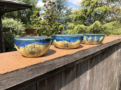 Yellow & Blue Daisy Nesting Bowls