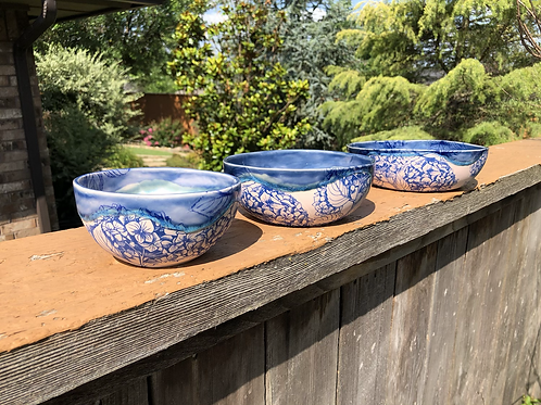 Pink Hydrangea Nesting Bowls