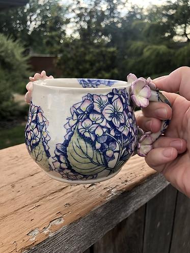 Fancy Hydrangea Mug