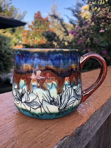 Drippy Magnolia Mug