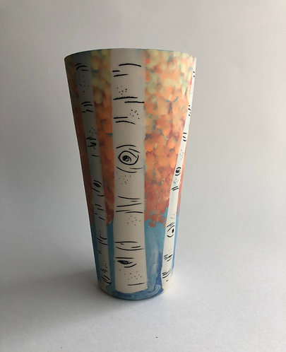 Autumn Leaves Aspen Pint Cup - made to order (1-2 weeks processing)