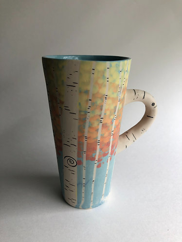 ~ Tall Autumn Leaves Aspen Mug (made to order 2-3 weeks to process)