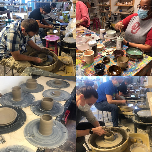 Tuesday Night Wheel-throwing Class (Adult) - Aug, 17, 24 & 31 from 6: