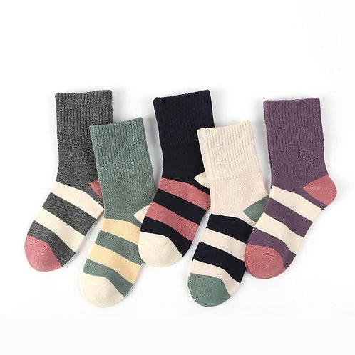 Stripey Star Socks