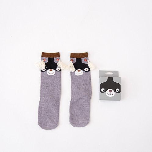 Raccoon Knee High Socks