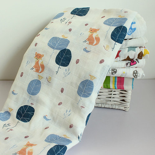 copy of 100% Organic Cotton Muslin Swaddle Blanket