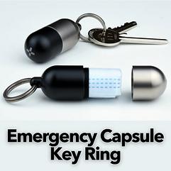 Emergency Capsule Key Ring