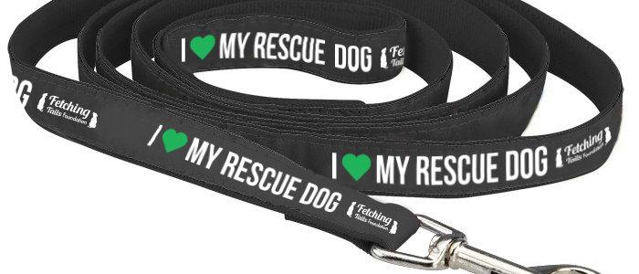 I <3 My Rescue Dog Leash