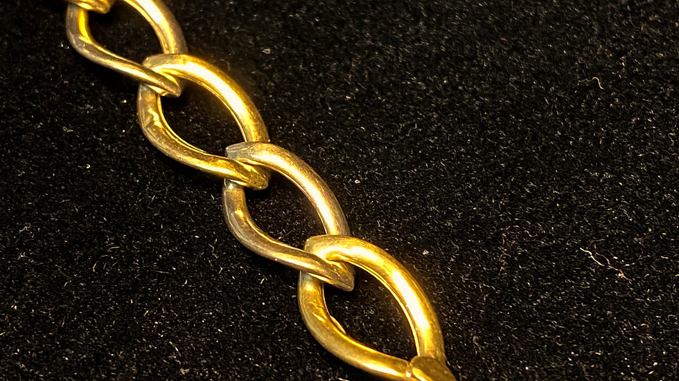 14K White & Yellow Gold Bracelet