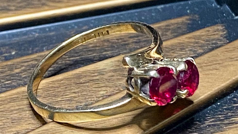 10K Gold Ruby Ring