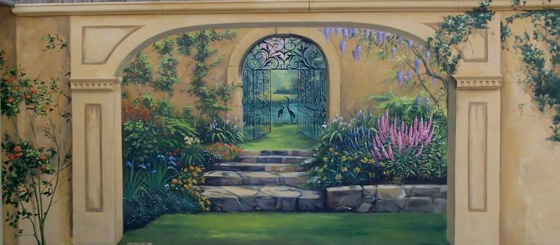 Garden Trompe loeil