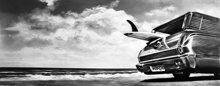 Surf Board & Car