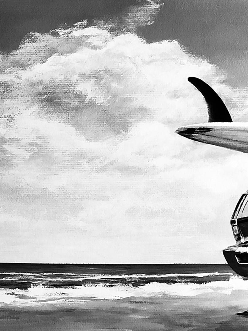 Surf Board & Car Mural