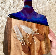Purple and blue cheese board! All shiney