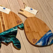 Engraved, Sanded, Resined, Oiled and rea