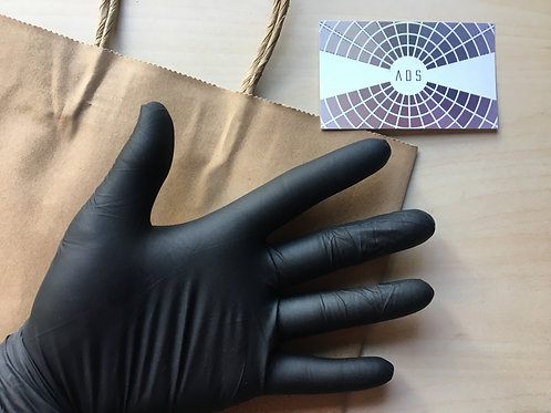 10 Latex Work Gloves - Black