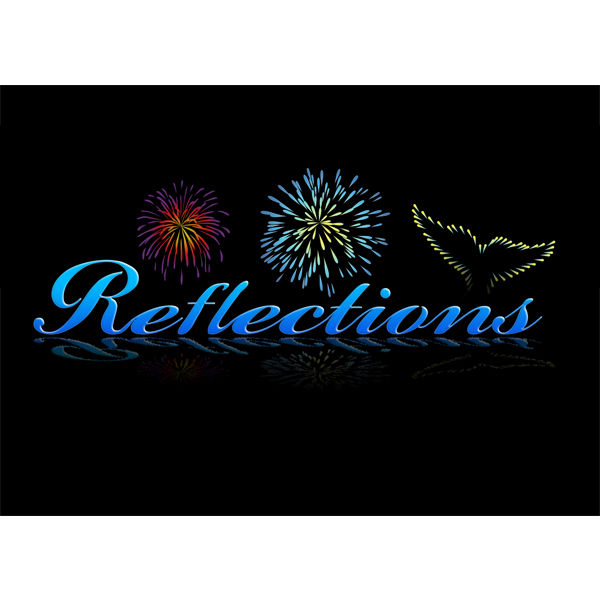 Reflections show logo