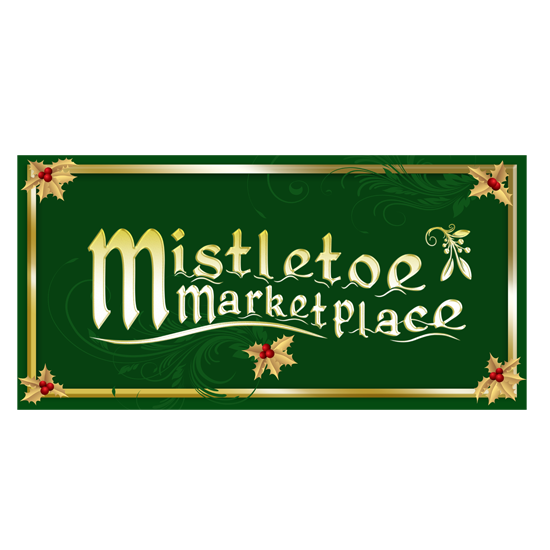 Mistletoe Marketplace logo/sign