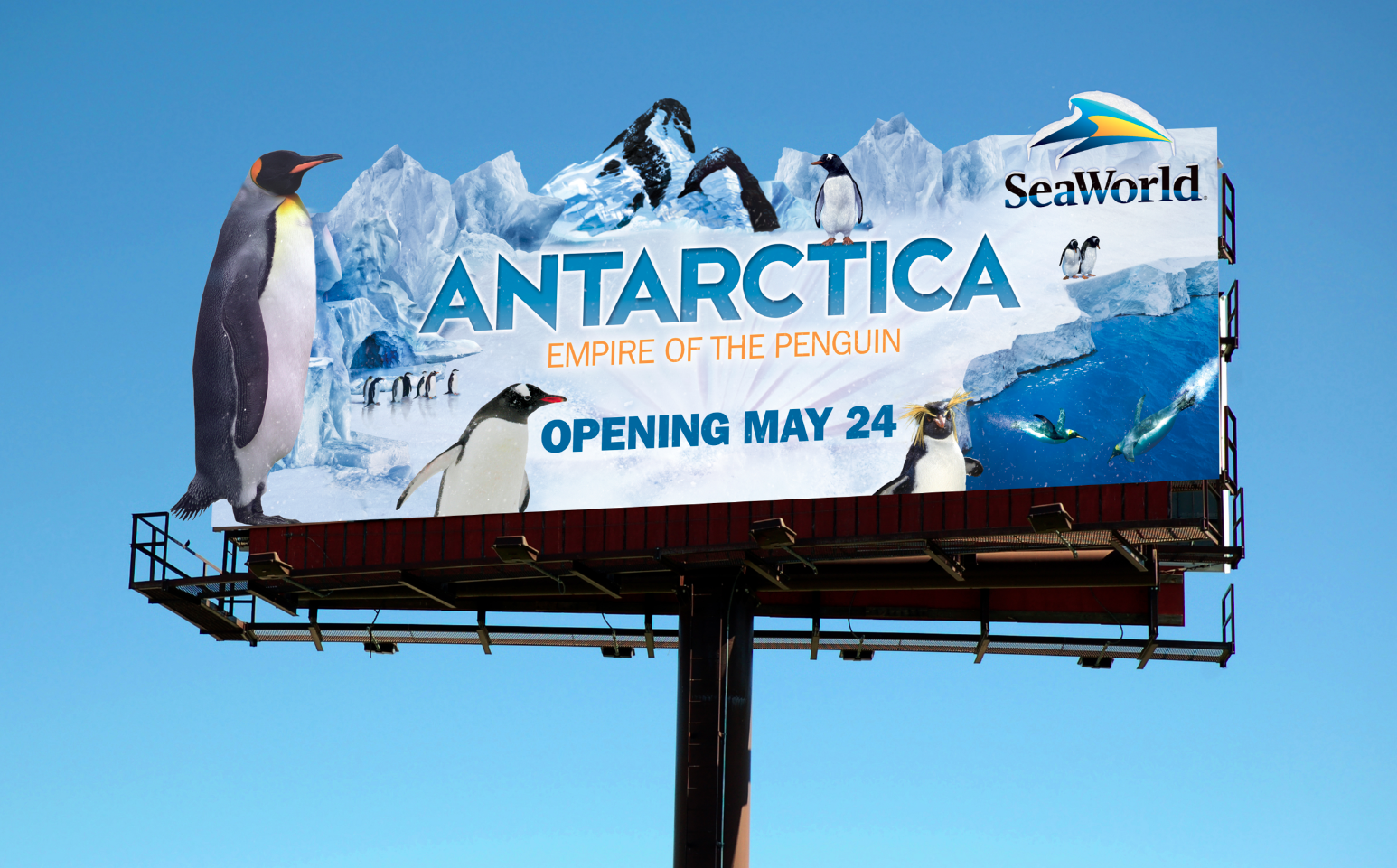 Antarctica Attraction Billboard