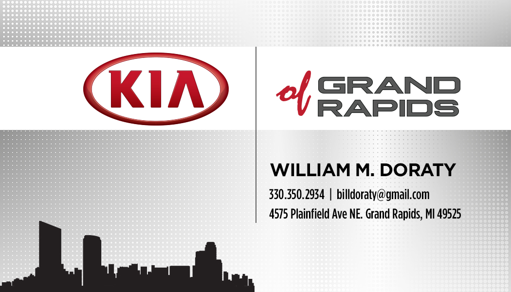 Kia of Grand Rapids Business Card