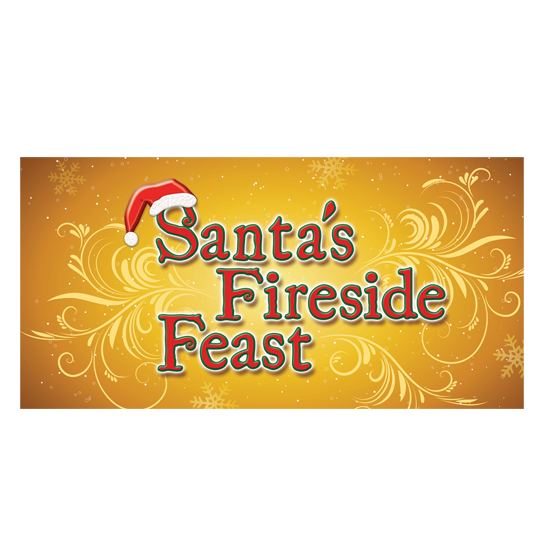 Santa's Fireside Feast logo/sign
