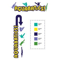 Aquabatics show logo