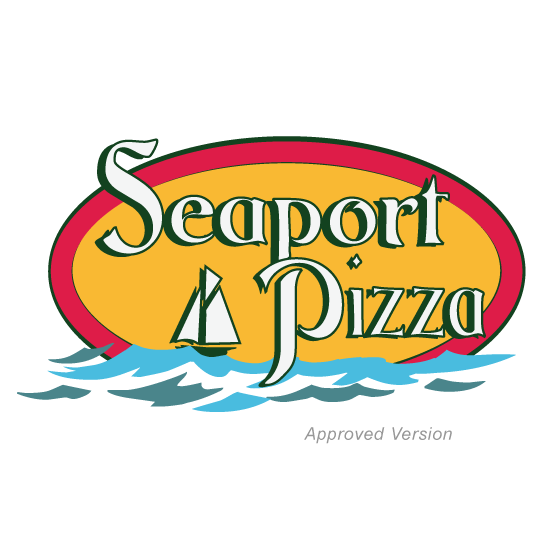 Seaport Pizza logo design