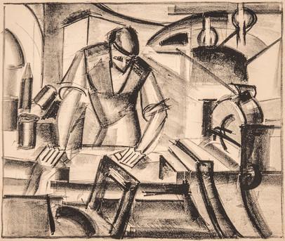 Kadinsky vid pressen, 1916