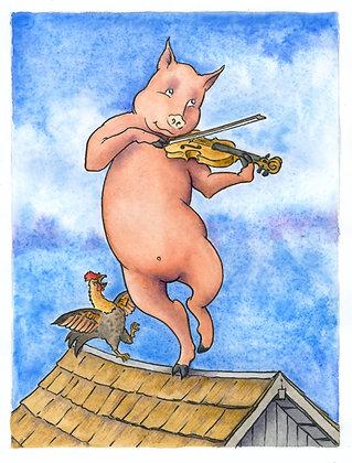 Fiddling Pig