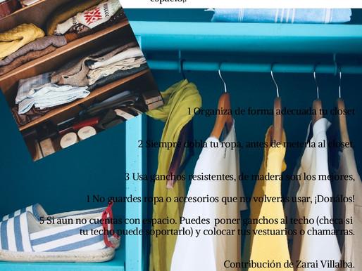 Tip Nov 2019 ¿Mucha ropa y poco espacio?