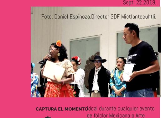 En el Festival Mitotl. oct 2019
