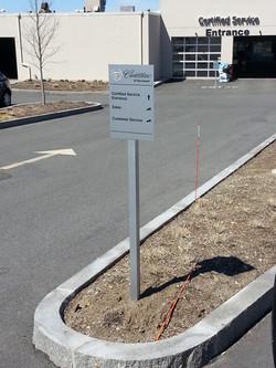 Norwood Cadillac Wayfinding Sign