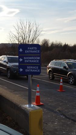 Volvo Hingham Wayfinding Sign