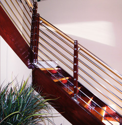 image of railing in home