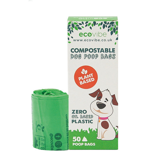 Eco Vibe Biodegradable Compostable Poop Bags (50 bags)