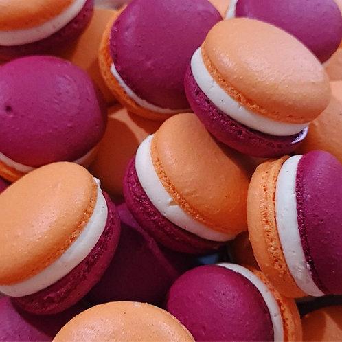 Peach Melba Macarons