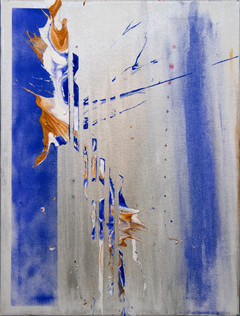 Gold and purple splash