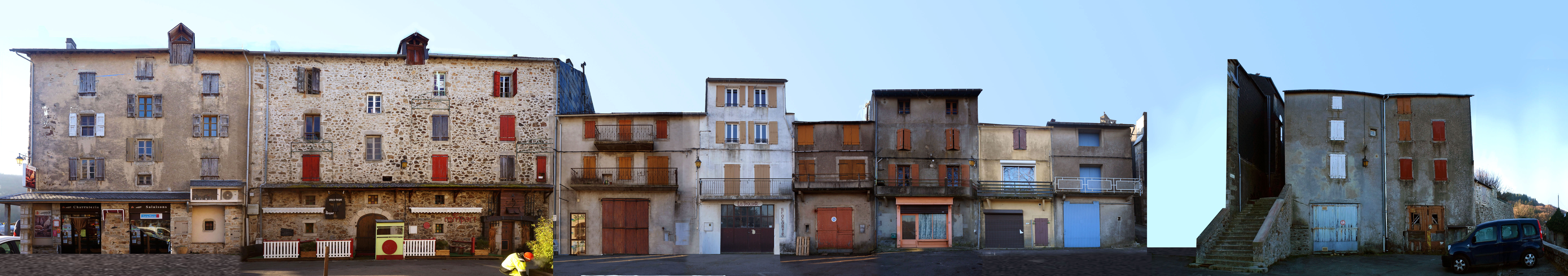 Montage des façades actuelles