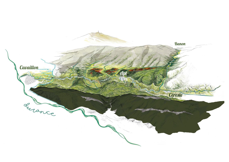 Carte du Calavon-Coulon