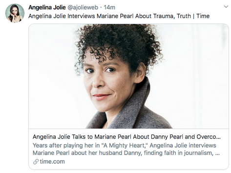 Please read journalist Mariane Pearl's powerful interview by Angelina Jolie